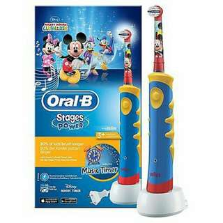 Oral B Stages Power Kids Electric Toothbrush Featuring Disney Mickey Mouse
