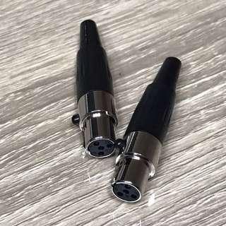 BN IN-Stock Mini XLR Connector 4 Pin