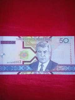 50 Turkmenistan Elli Manat