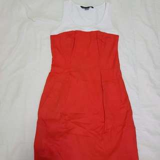 Armani Exchange orange dress