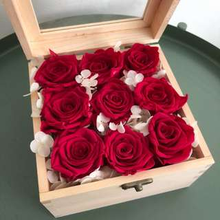Valentine's Day Everlasting Rose Bloombox