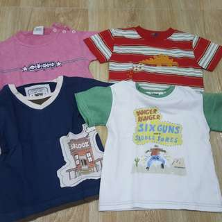 Preloved Boy Shirts for 2 years old 2T P100 only