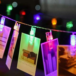 LED PHOTO CLIP STRING (Mixed)