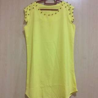 Beaded Yellow Dress