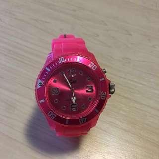 Ice桃紅色錶