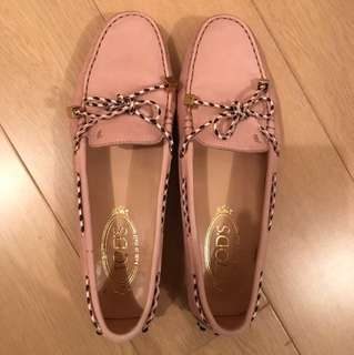 Tods pink loafers 38.5