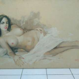 Oil old Painting nude