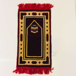 Religious Item - Maroon & Gold Small Prayer Mat