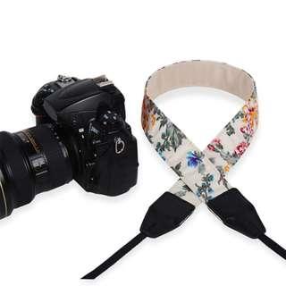 Vintage Floral Adjustable DSLR Camera Strap (A)