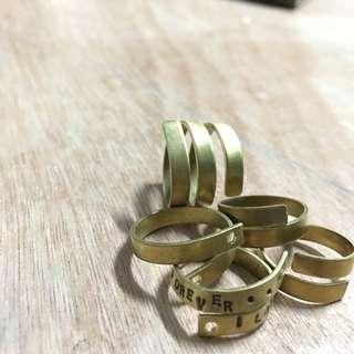Raw Brass Spiral Ring