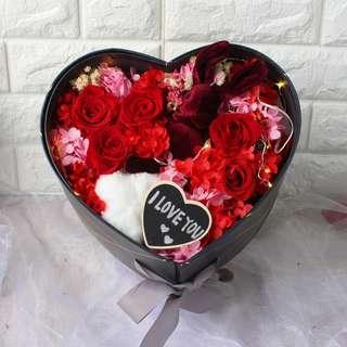 Double Layer Flower Gift Box - Eternal Preserved Flower - Everlasting Flower