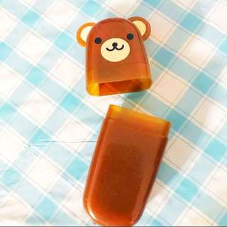 Cute bear spectacle plastic case