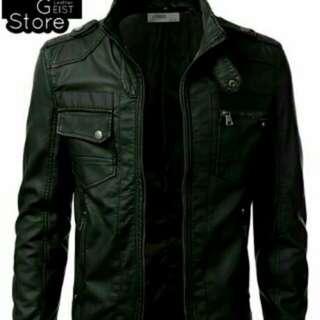 Jaket Motor / Jaket kulit pria / Jaket kulit sintetis