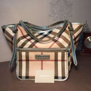 Authentic preloved burberry tote