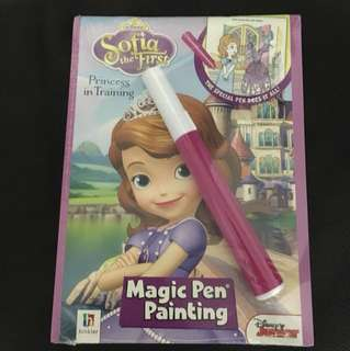 BNIP Princess Sofia Magic Pen Painting Book