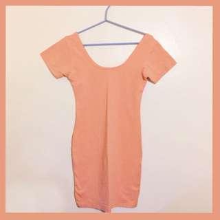 Orange Body-con Dress