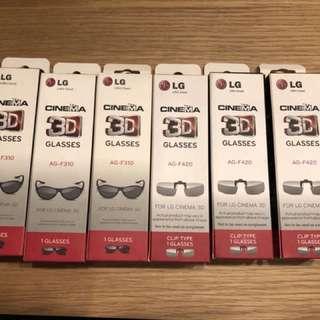 Only $2 each. NEW! LG 3D Glasses AG-F310 / AG F420