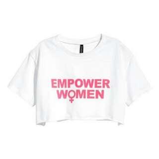 HNM EMPOWER WOMEN CROP TOP
