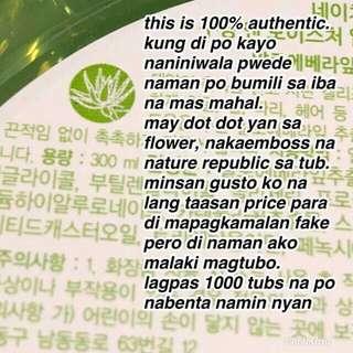 Nature republic aloe vera gel soothing & moisturizer 92%