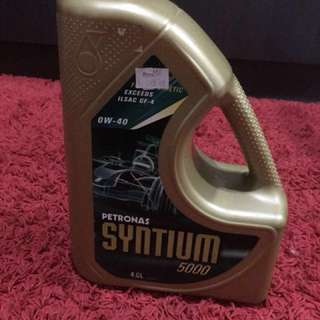 Minyak Hitam Petronas syntium 5000 0w-40 Fully synthetic