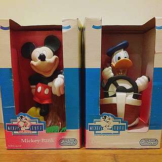 Mickey and Donald Coin bank