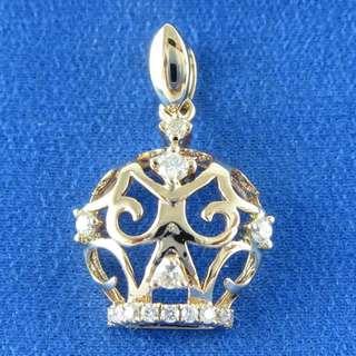 KALVION 18K/750 玫瑰色黃金鑽石吊墜 ‧ 王子皇冠
