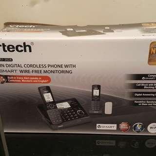 Vtech VC7151-202A 數碼室內無線電話雙子機組合連無線家居監控