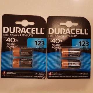 1x Duracell High Power Lithium CR123 / CR123A /CR17345