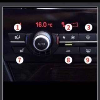 Bmw 5 series and 7 series aircon buttons