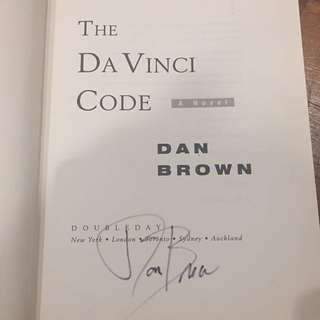 Autographed Edition - The Da Vinci Code