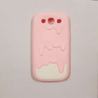Samsung Galaxy S3 Silicon Ice Cream Case with screen protector and cleaner