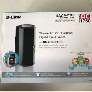 DLink Wireless AC1750 Dual Band Cloud Router