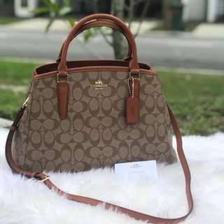 Coach small Margot carryall in signature (F58310)
