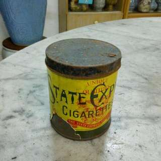 555 State Express Cigarettes Round Tin Vintage 3