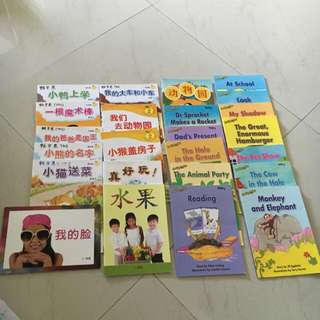 20 Chinese and English Nursery & K1 School Reading Pro Books