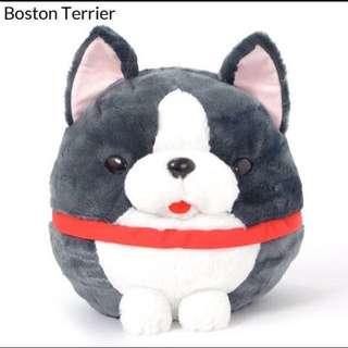 Wanko tai large Boston terrier plush toy Japan original amuse bnwt