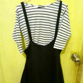 Stripey dress and set
