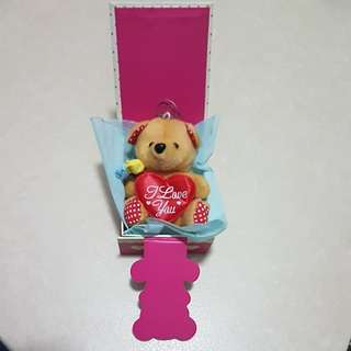 Valentine Brown Bear in box