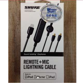 Shure remote +mic lightning cable iPhone 耳機線