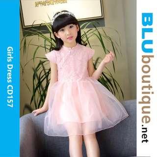 Pink Girl Dress Tutu Skirt Chinese New Year