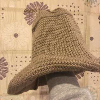🚚 卡其色毛線 漁夫帽