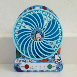 Pochacco Rechargeable Portable Fan Sanrio Authentic Rare (Dog)