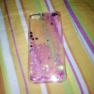 iPhone 5C/5S Pink Liquid Glitter Phone Case