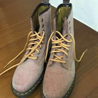 布面粉色馬汀鞋 37號