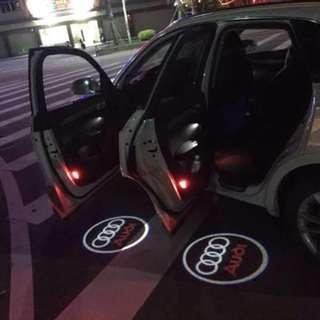 Audi welcome light Q5Q7Q3A3A5A7A8A6LA4L special door laser light projection lamp atmosphere light HD