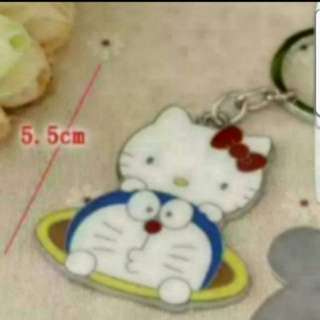 In Stock Hello Kitty Doraemon Keychain