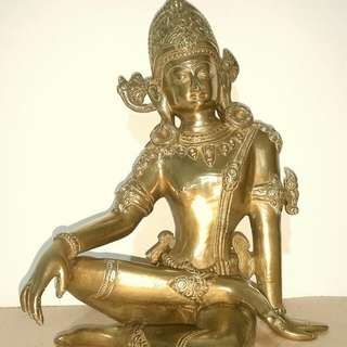 Lord Indra Brass Statue