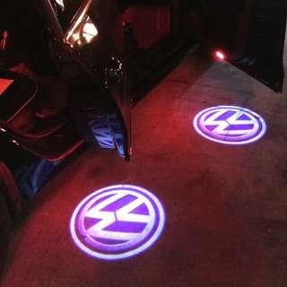 Volkswagen welcome light Passat Sagitar new MAGOTAN laser light projection lamp CC Touareg ground lights modified