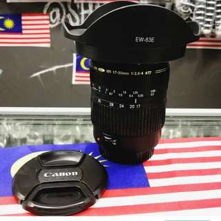 TAMRON SP 17-35MM F/2.8-4 DI WIDE ANGLE FULL FRAME LENS FOR CANON DSLR CAMERA