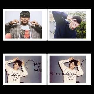 ong seong woo wanna one signed polaroid